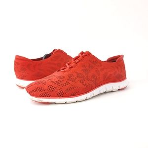 Cole Haan Zerogrand Firey Red W04685 Perf Trainer